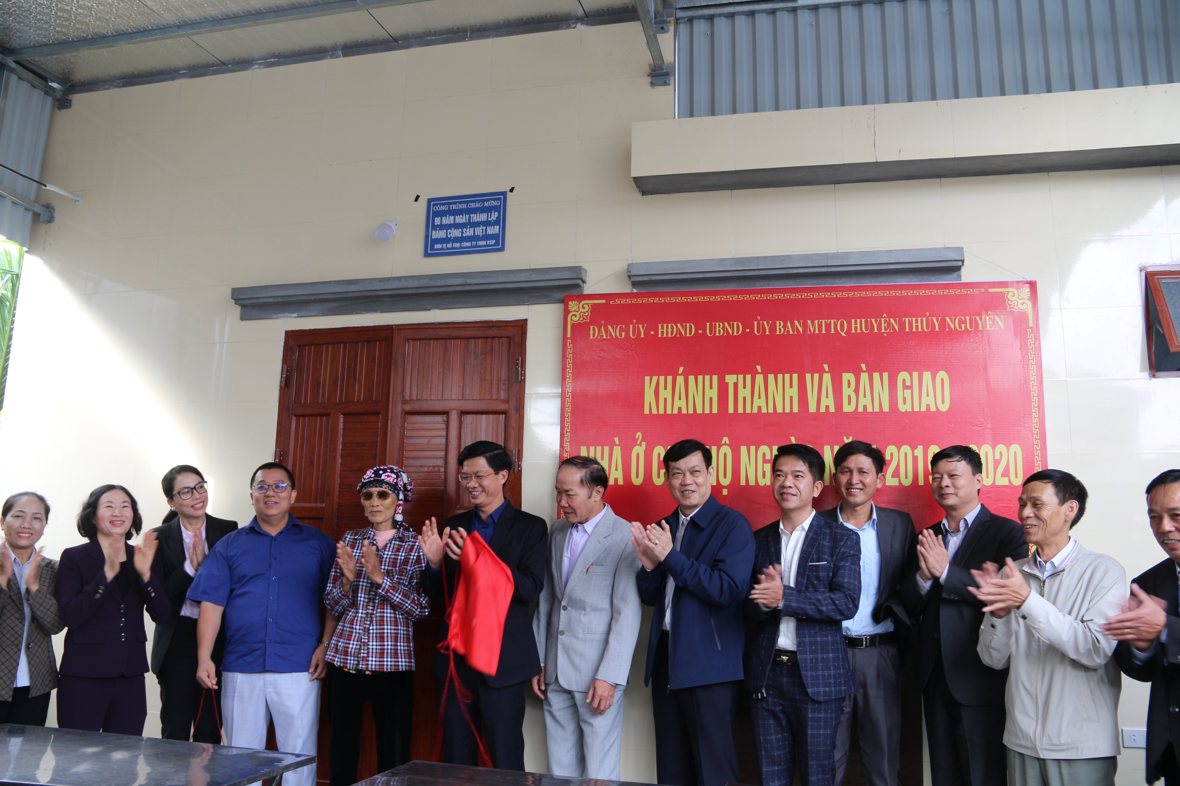 VSIP HAI PHONG SPONSORED 520 MIL VND TO BUILD HOUSES FOR THE POOR IN THUY NGUYEN