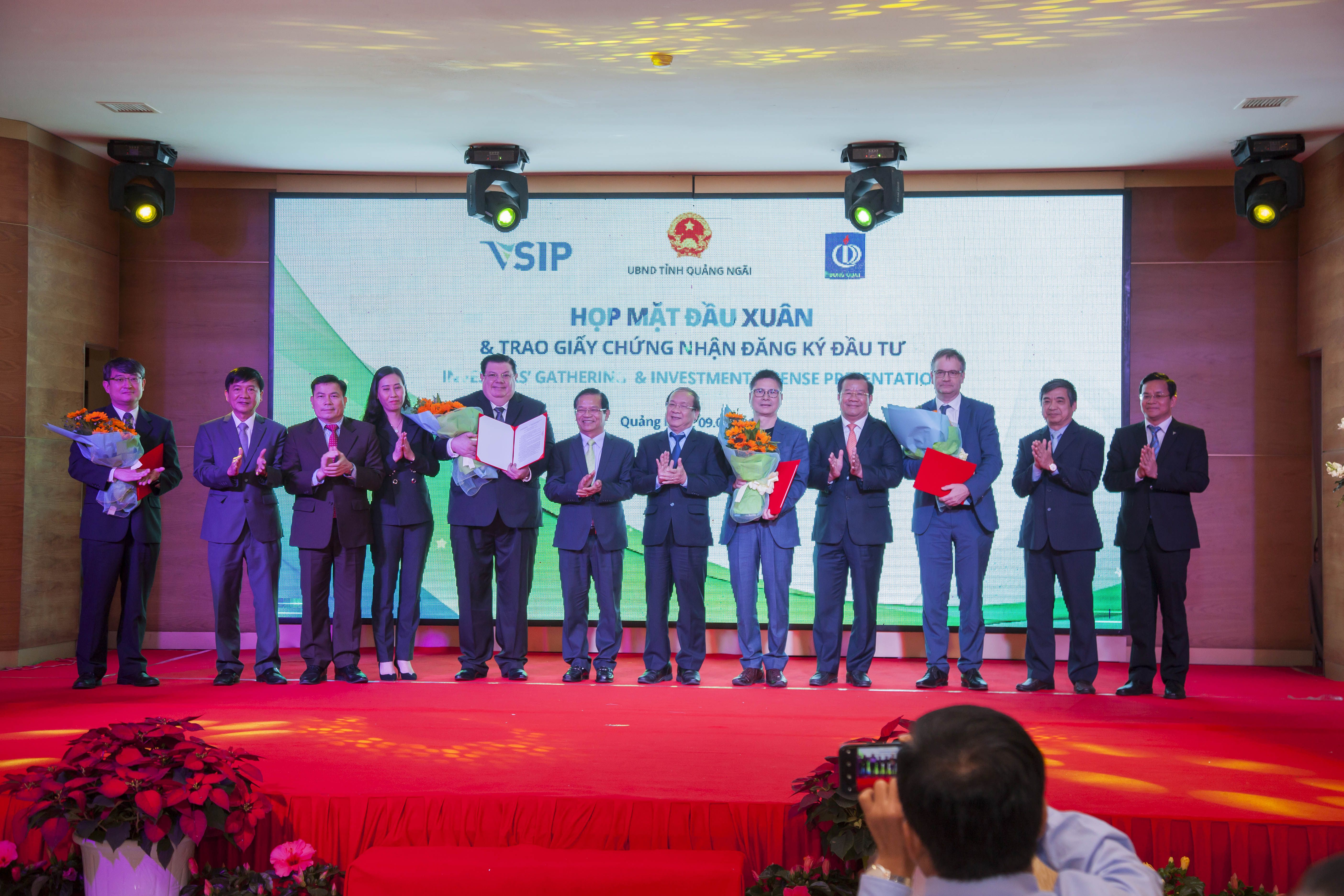 US$321 MILLION OF NEW FOREIGN INVESTMENT IN VSIP QUANG NGAI